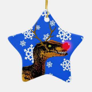 Velociraptor Christmas Ornament - Star Shape