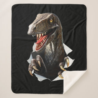 Velociraptor Dinosaur Medium Sherpa Fleece Blanket