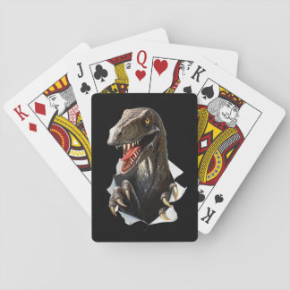 Velociraptor Dinosaur Playing Cards