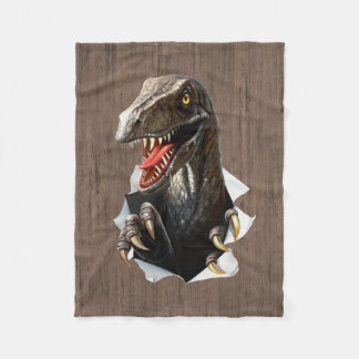 Velociraptor Dinosaur Small Fleece Blanket