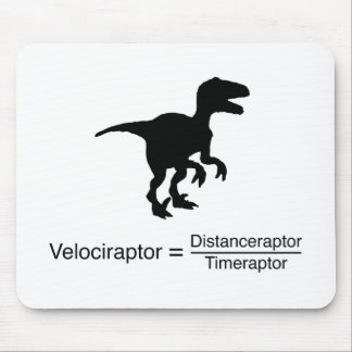 velociraptor funny science mouse mat
