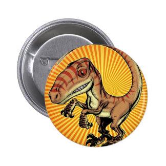 Velociraptor Raptor Dinosaur by Marco D Carillo 6 Cm Round Badge