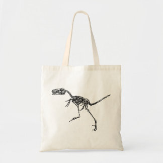 Velociraptor Skeleton Tote Bag