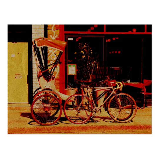 velorickshaw vintage postcard