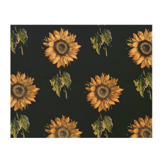 Velours au Sabre silk decoration of Sunflowers