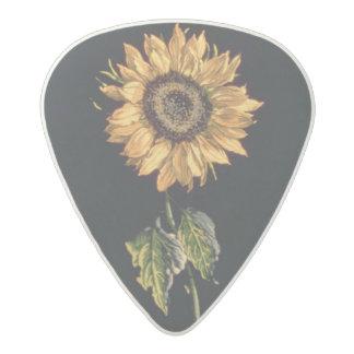 Velours au Sabre silk decoration of Sunflowers Acetal Guitar Pick