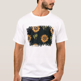 Velours au Sabre silk decoration of Sunflowers T-Shirt