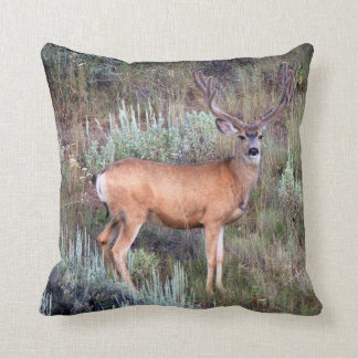 Velvet buck throw pillow