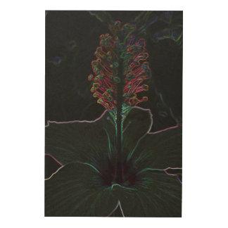 velvet colored flower wood wall art