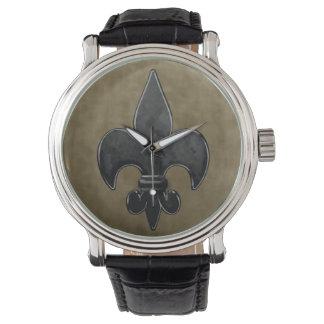 Velvet Fleur De Lis Wrist Watches