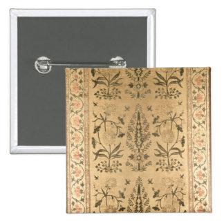 Velvet floor spread, Moghul, Shah Jahan period, 16 15 Cm Square Badge