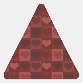 Velvet Hearts Triangle Sticker