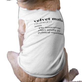 VELVET MAFIA SLEEVELESS DOG SHIRT