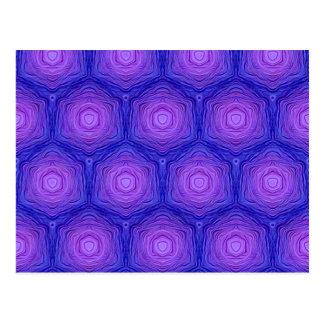 Velvet Pattern blue Postcards
