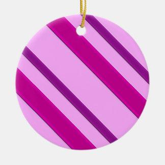 Velvet ribbons, plum and pink round ceramic decoration