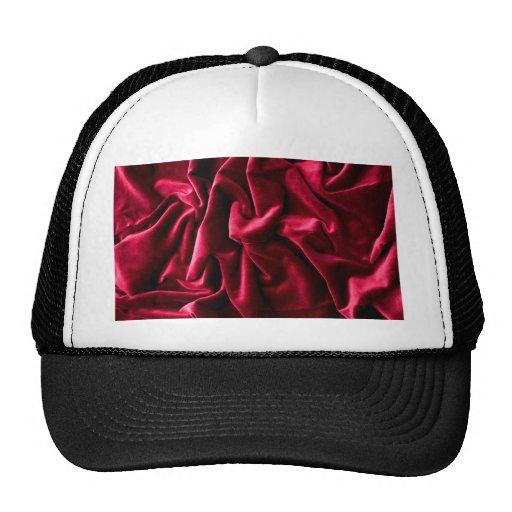 velvet vintage chic red pink cafe style textile hat