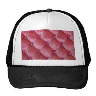 velvet vintage chic salmon pink cafe style textile trucker hat