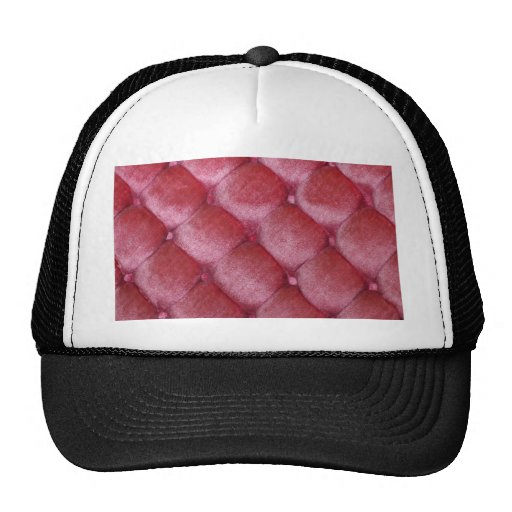 velvet vintage chic salmon pink cafe style textile mesh hat