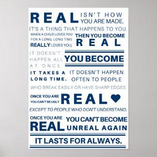 """Velveteen Rabbit """"Real"""" Poster"""