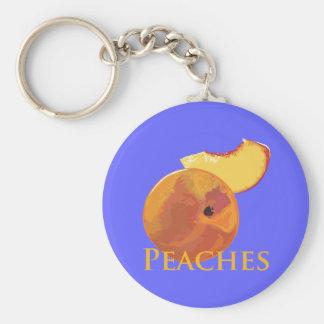 Velvety Peaches Key Chain