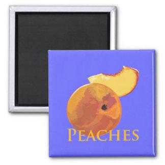 Velvety Peaches Fridge Magnets