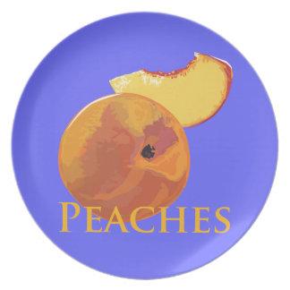 Velvety Peaches Plates