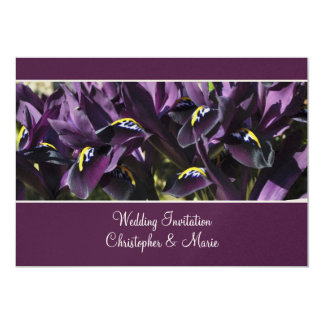 Velvety purple iris Wedding Invitation
