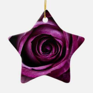 Velvety Purple Rose Christmas Ornament
