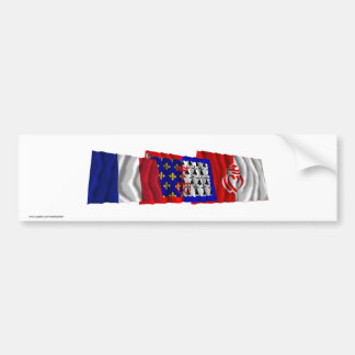 Vendée, Pays-de-la-Loire & France flags Bumper Sticker