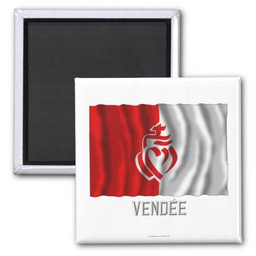 Vendée waving flag with name refrigerator magnets