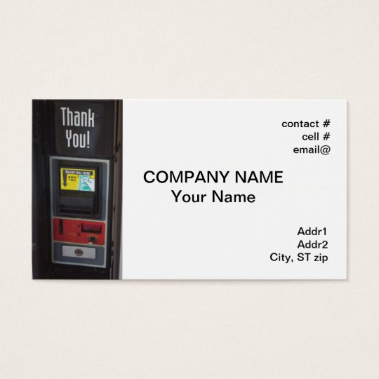 vending machine business card