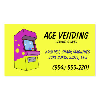vending machine business card designs