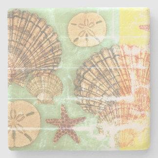 Vendredi Seashells Stone Coaster