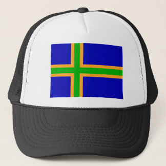 Vendsyssel district Denmark region flag symbol cro Trucker Hat