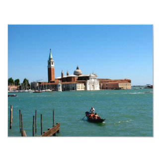 Venetian Blue 4.25x5.5 Paper Invitation Card
