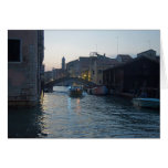 Venetian Canal at Dusk Greeting Card