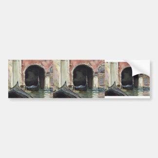 Venetian Canal  by John Singer Sargent Bumper Sticker