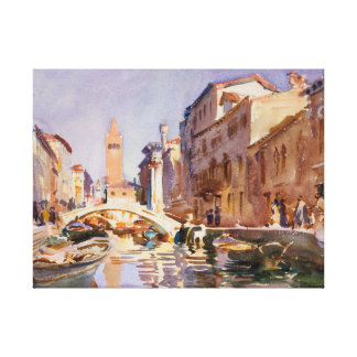 Venetian Canal Gallery Wrap Canvas