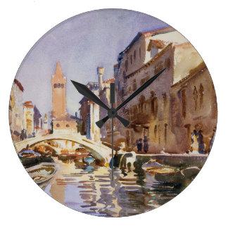 Venetian Canal Large Clock