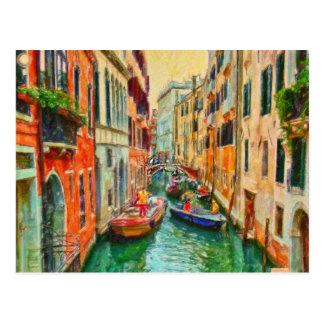 Venetian Canal Venice Italy Post Card