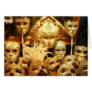 Venetian Carnival Masks Card