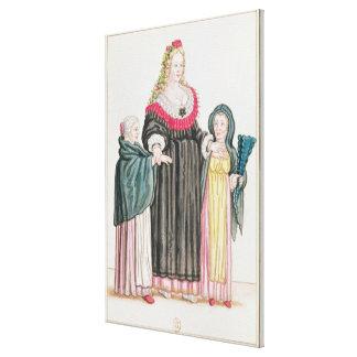 Venetian Courtesan Canvas Prints