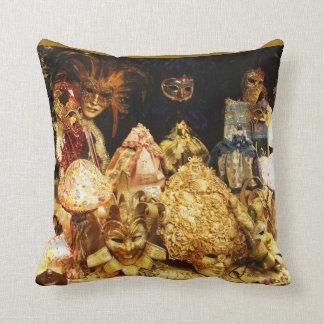 Venetian  fancy Jester Mardi Gras Masks Cushion
