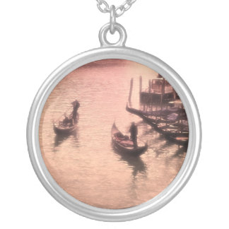 Venetian Gondolas. Dreamy Mode.Necklace Silver Plated Necklace