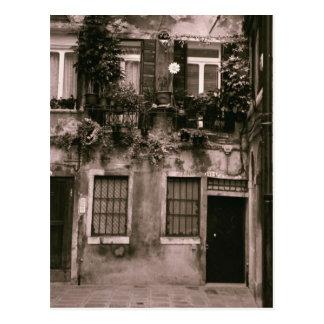 Venetian House Facade Postcard