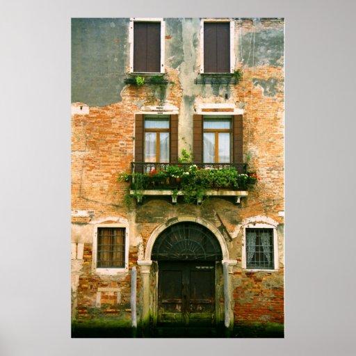 Venetian House Facade Poster