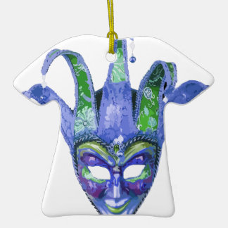 Venetian Jester Carnival Mask Ceramic T-Shirt Decoration