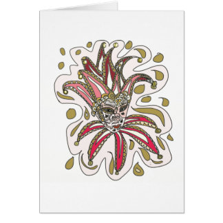 Venetian Jester Mask Card