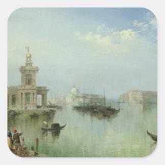 Venetian Lagoon Square Sticker