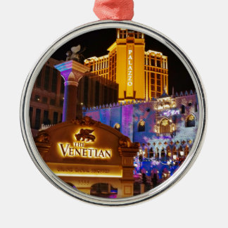 Venetian Las Vegas Decorative Evening Lights Silver-Colored Round Decoration